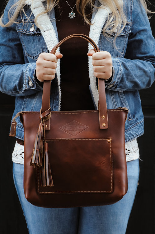 Mini Tote - Oxford Brown