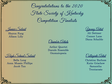2020 competition finalists