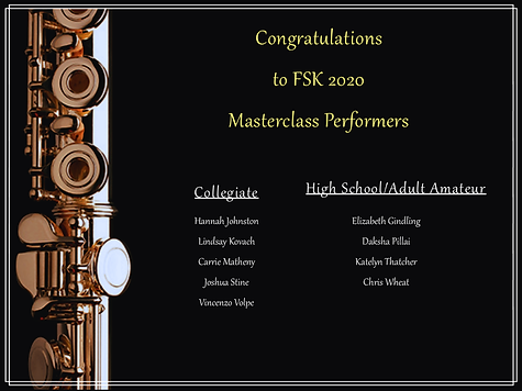 2020 masterclass participants