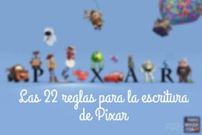 Las 22 reglas de Pixar para la escritura