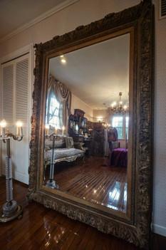 19世紀フランスの金彩レリーフ大鏡