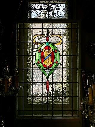 リボンデザイン特大ステンドグラス