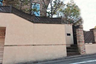 大変高さのあるムラバックの外壁