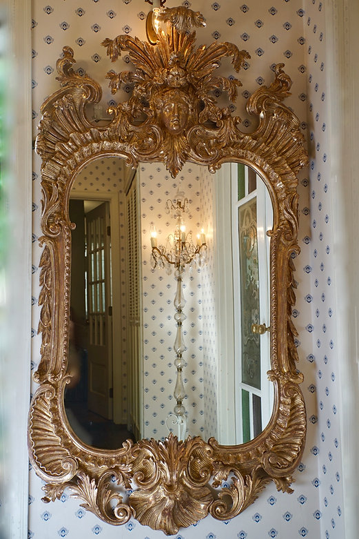 19世紀中頃、フランス金彩バロックミラー