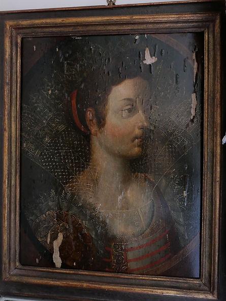 1500年代高貴なマスターレディの絵画