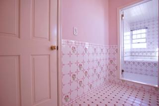 フランス製ピンクの薔薇のタイル