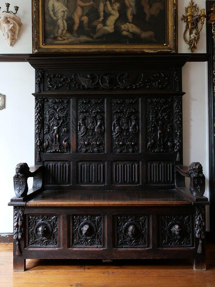 18世紀バロック様式セトルチェア