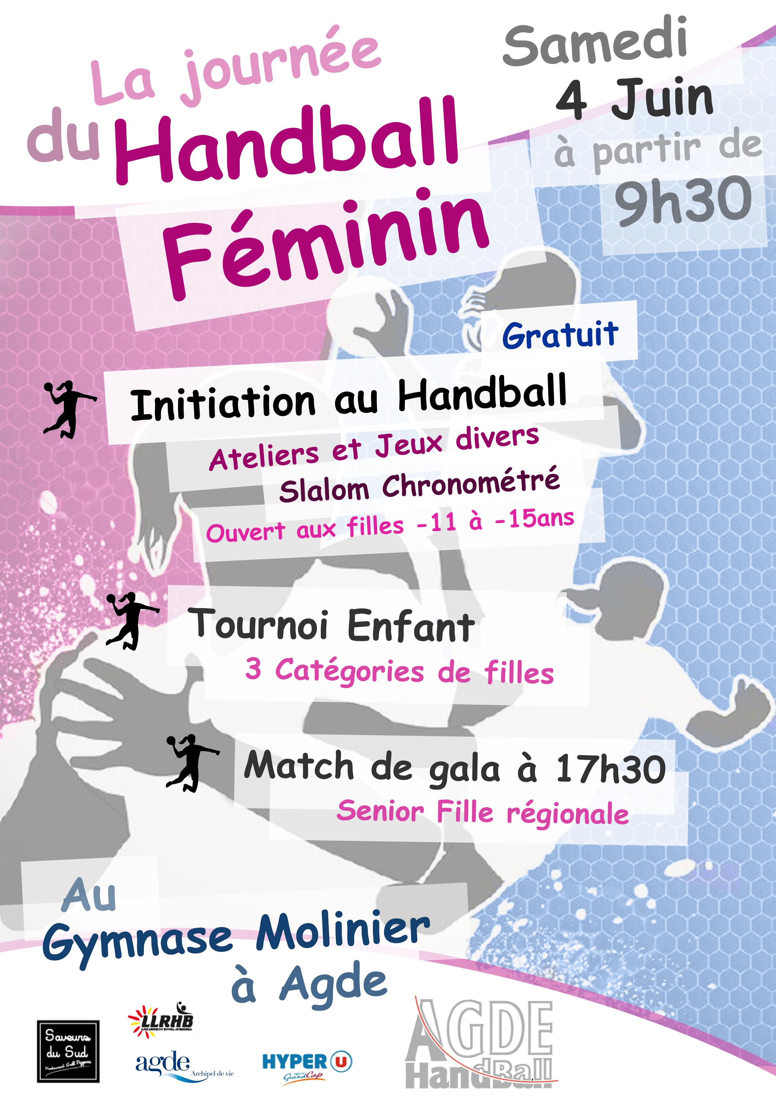 """Affiche """"Journée du Handball Fémin"""""""