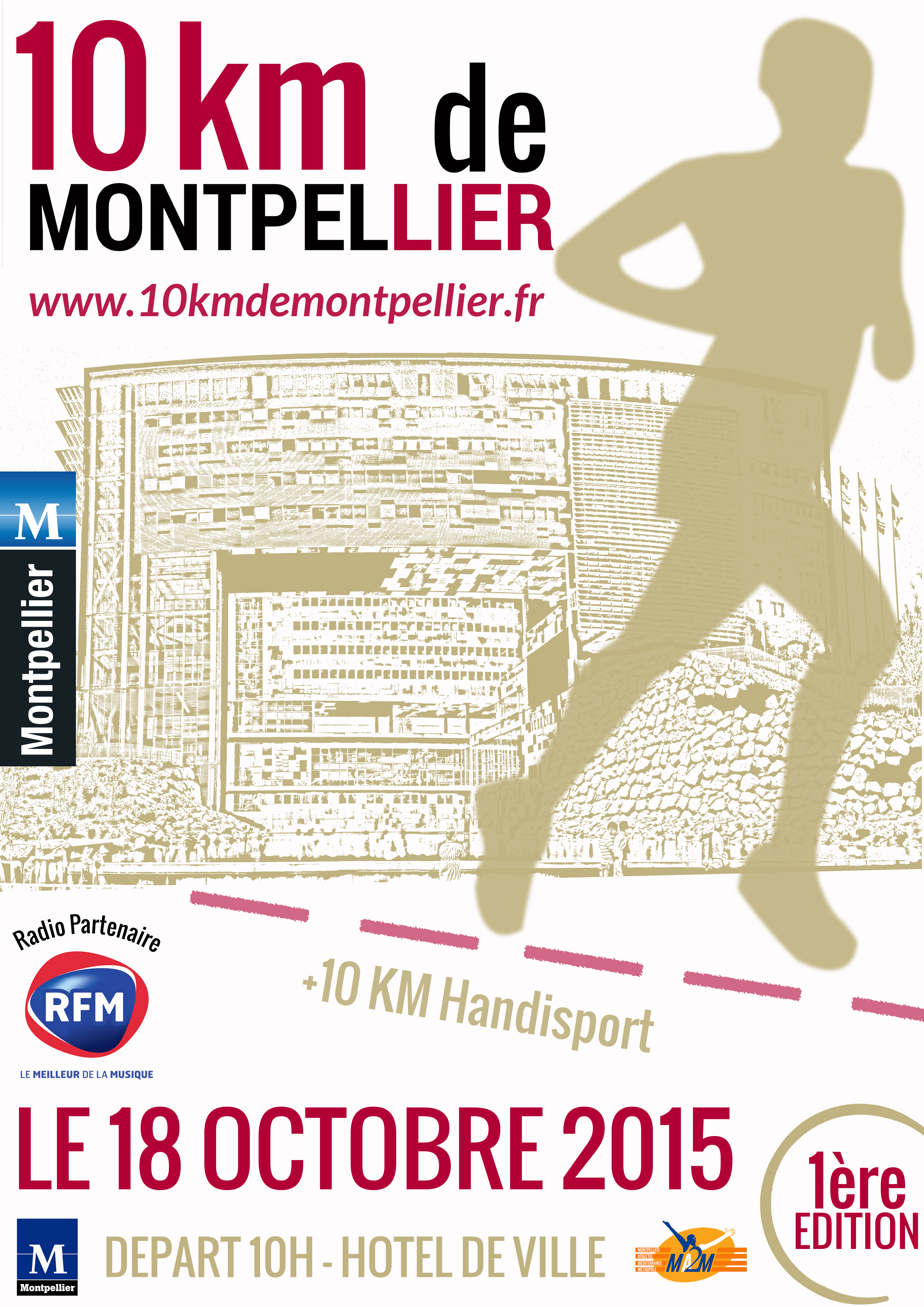 "Affiche ""10km de Montpellier"""