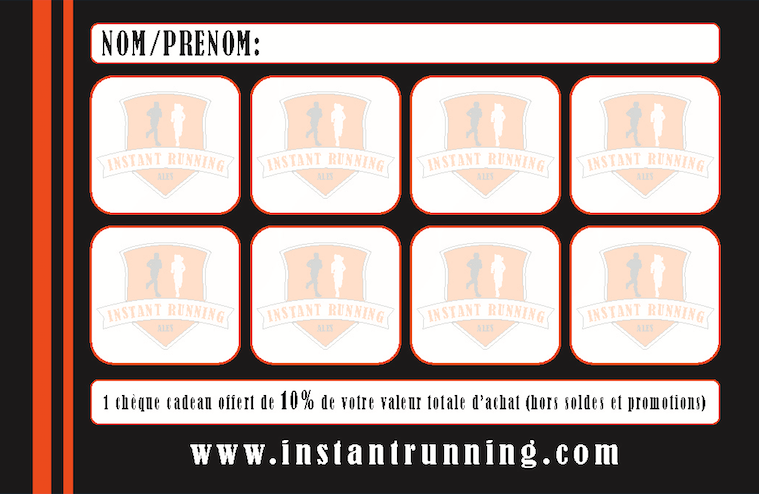 Carte de fidélité Instant Running