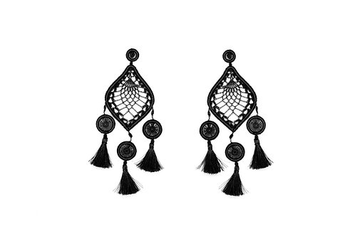 PENDIENTES MEDA XL BLACK AND WHITE