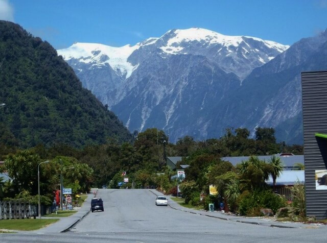 Beautiful Franz Josef township
