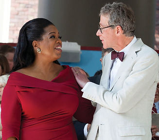 Carl Muller introduces Oprah Winfrey at the 2013 Harvard University Commencement Exercises.