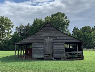Old barn at the farm where Carl Muller grew up in Blythewood, South Carolina.