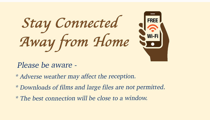 FREE WIFI IN THE LODGES