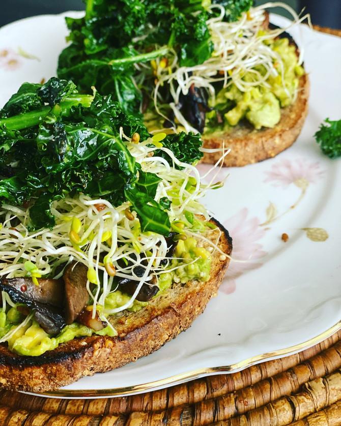 Flawless Mushroom Breakfast Toast