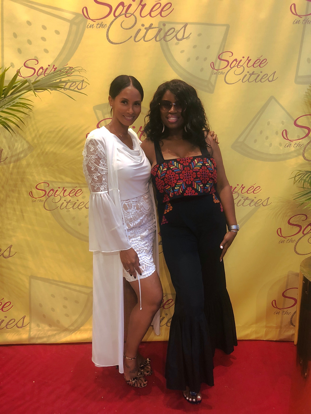 Rashada Siojo Founder and creator of 27 Days To Flawless & Flawless By Siojo Pictured with Ebony Edwards Founder and creator of Soiree In The Cities at the 5th annual SITC