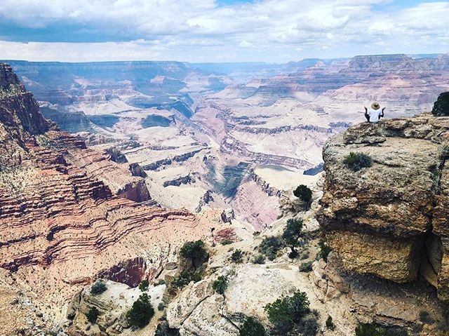 I love this pic of my little brother at the Grand Canyon tapping into his power and he is definitely not playing it safe!