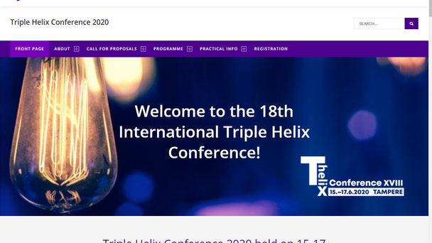 Call for papers of the XVIII International Triple Helix Conference 2020