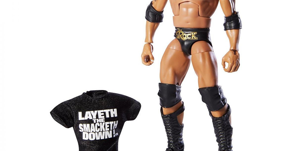 WWE Elite Series 69 THE ROCK Wal-Mart Exclusive Collectors Edition