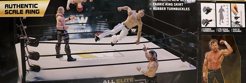 AEW AUTHENTIC SCALE RING PLAYSET (W/ EXCLUSIVE KENNY OMEGA)