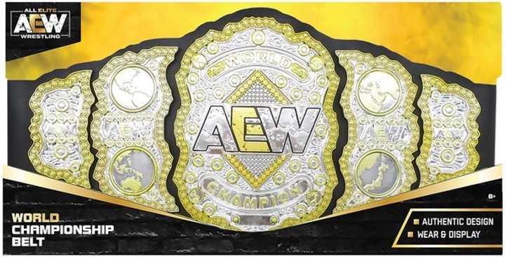 *PRE ORDER* AEW WORLD CHAMPIONSHIP - TOY WRESTLING BELT