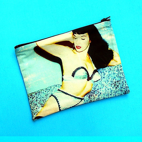 Bettie Blue Zipper Pouch
