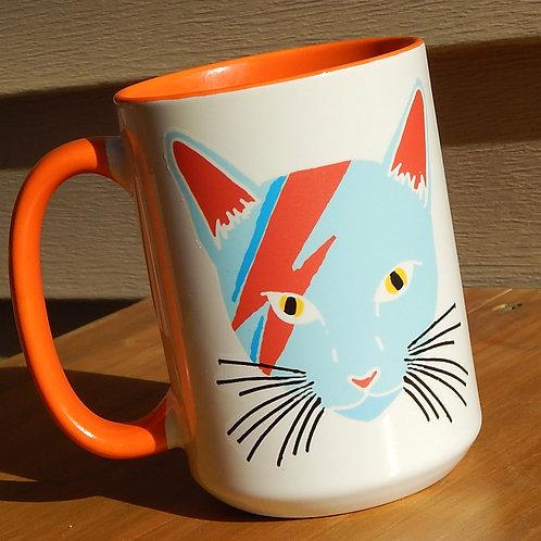 Ziggy Cat (light blue) 16oz Ceramic Mug