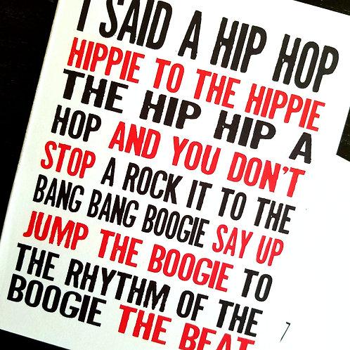 Rapper's Delight Notecard