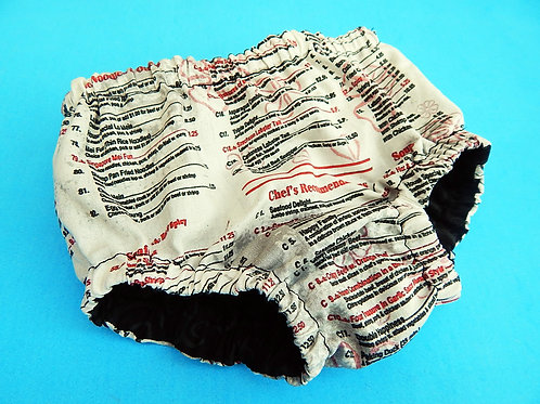 Chinese Takeout Diaper Cover