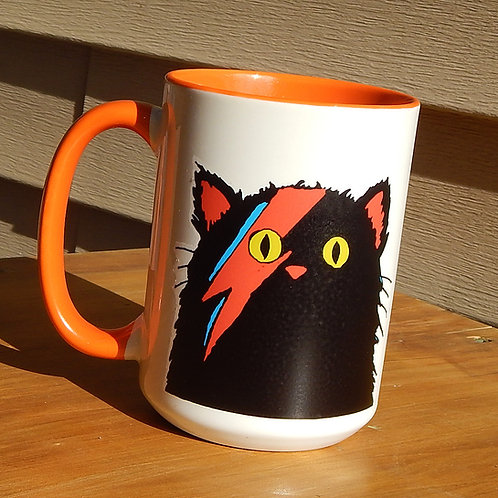 Ziggy Cat (black) 16oz Ceramic Mug