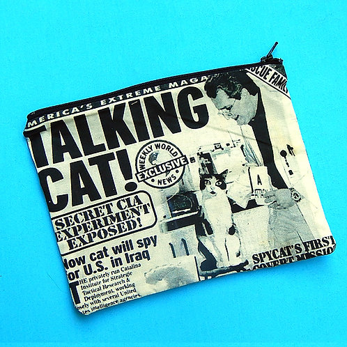 Talking Cat Zipper Pouch