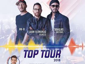 Juan Fernando Velasco, AU-D y Douglas Bastidas se unen en el Top Tour