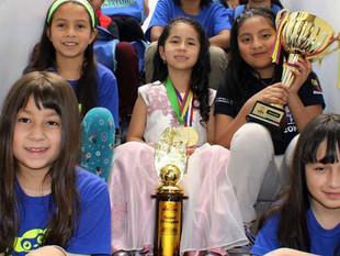 Niñas cuencanas ganadoras en Mundial de Cálculo Aritmético