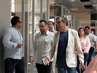 Juan Fernando Velasco inauguró la Feria Libre Libro
