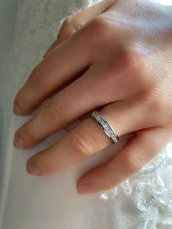 Princess Cut Channel Set Wedding Ring