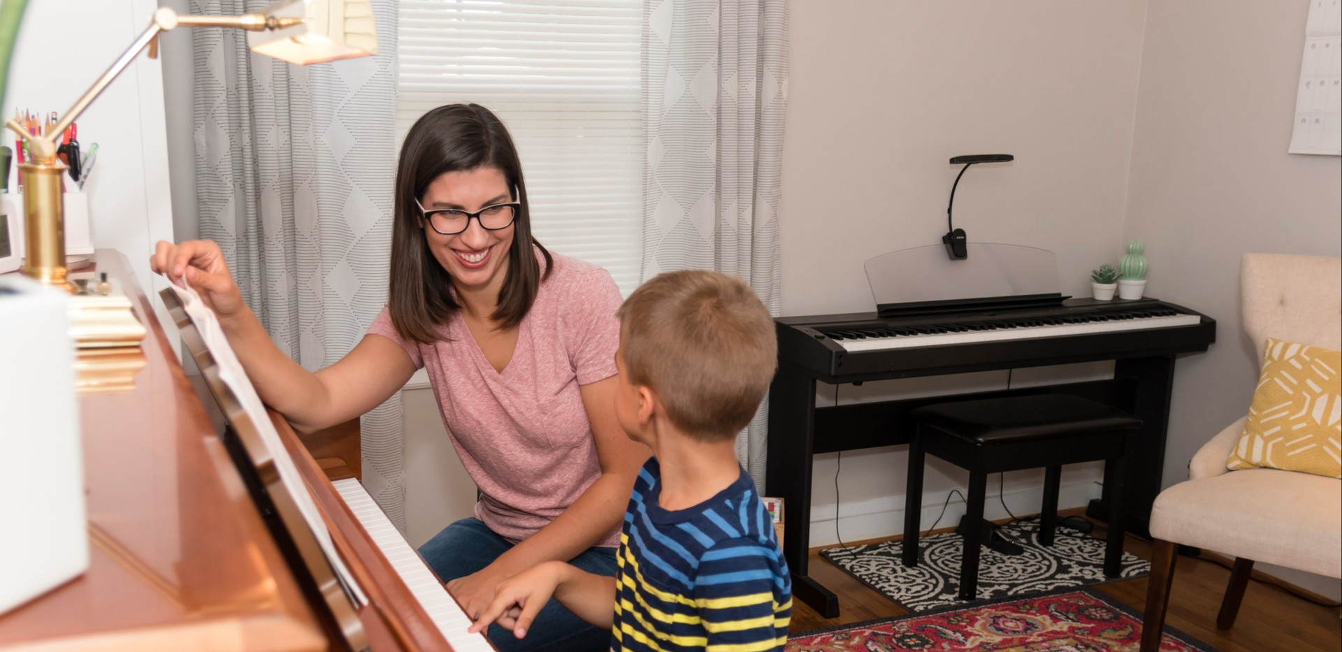 Playing the piano is fun!