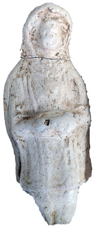 Terracotta statuette of a character