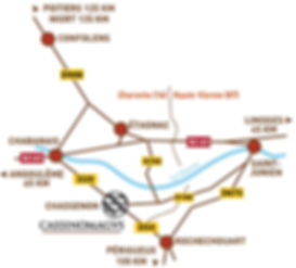 Plan d'accès de Cassinomagus