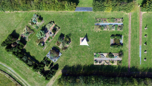 Vue aérienne du jardin de Pline