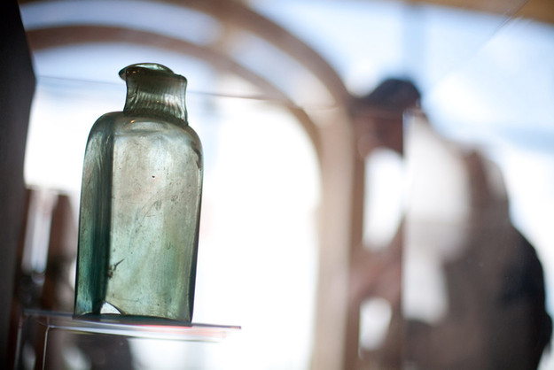 Gallo-Roman glass bottle