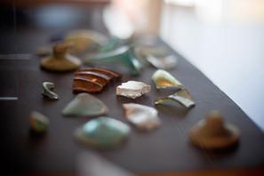 Eléments en verre gallo-romains