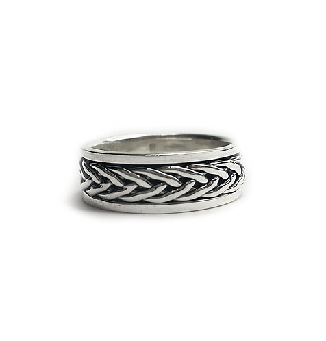 Sterling Silver 925 Antique Finish Celtic Knot Spinner Ring