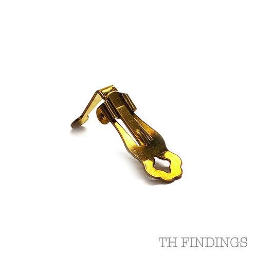 Large 24mm Brass Earclip & Box Earring Finding