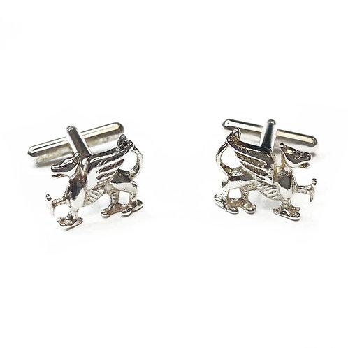 Sterling Silver 925 Dragon Cufflinks