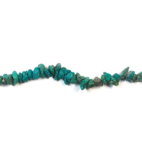 Natural Turquoise Nuggets Semi Precious Bead Strand