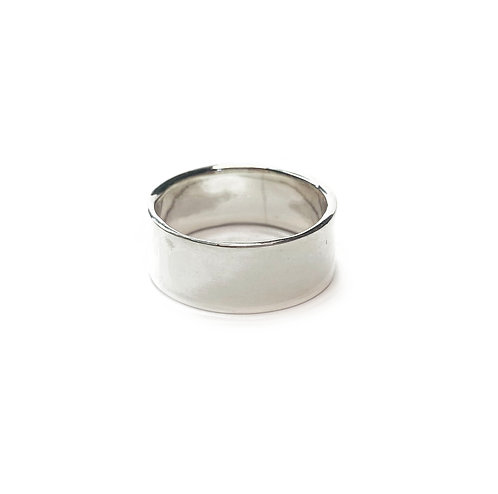 Sterling Silver 925 9mm Band Size S Ring