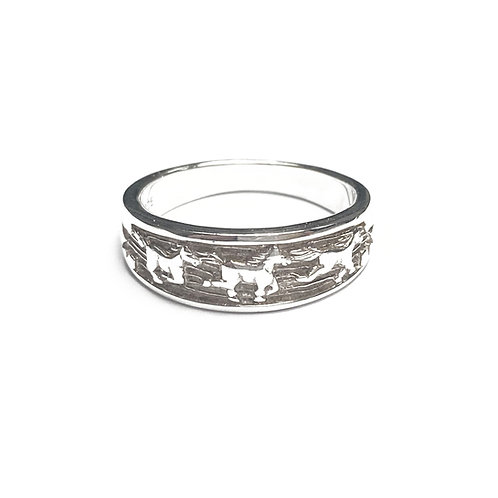 Sterling Silver 925 Equestrian Ring
