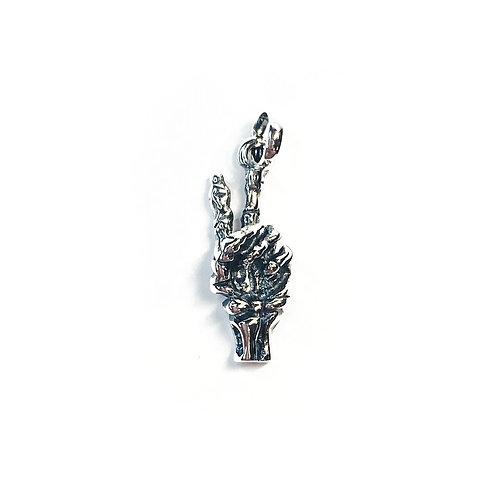 Sterling Silver 925 Skeleton Pendant