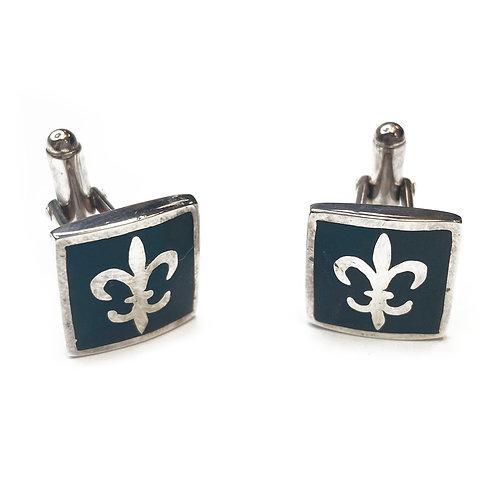 Sterling Silver 925 Fleur De Lis Cufflinks